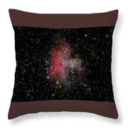 The Eagle Nebula And The Stellar Spire Throw Pillow