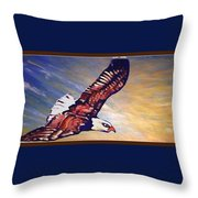 The Eagle Or The Great Thunderbird Spirit In The Sky Throw Pillow