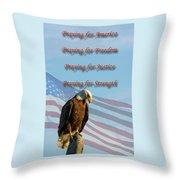 The Eagles Prayer Throw Pillow