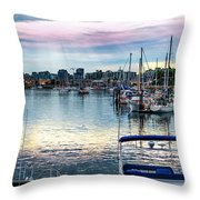 The Earth Says Good Morning Throw Pillow