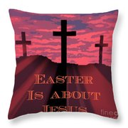 The Easter Cross Throw Pillow