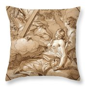 The Ecstasy Of St Mary Magdalene Throw Pillow