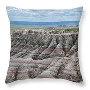 The Edge Of Panoramic Point Throw Pillow