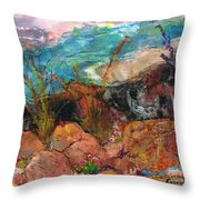 The Edge Of The Cliff Throw Pillow