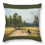 The Edge Of The Pine Forest Throw Pillow