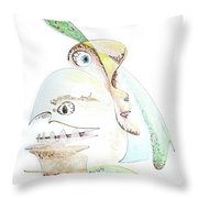 The Egg And I Throw Pillow