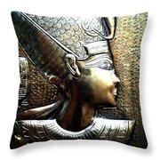 Queen Of Egypt Nefertiti Artwork Throw Pillow