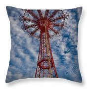 The Eiffel Tower Of Brooklyn Throw Pillow