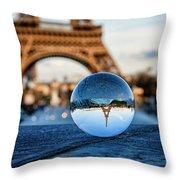 The Eiffeltower Throw Pillow