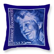 The Eleanor Roosevelt Stamp Throw Pillow
