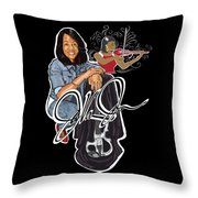 The Electric Violinist Throw Pillow