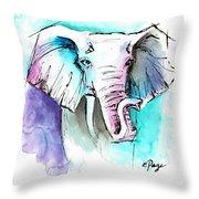 The Elephant King Throw Pillow