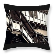 The Elevated Station At 125th Street 2 Throw Pillow
