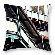 The Elevated Station At 125th Street Throw Pillow