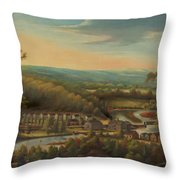 The Eli Whitney Gun Factory Throw Pillow