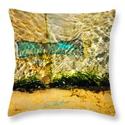 The Emerald Bow Tie Throw Pillow
