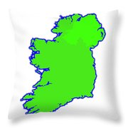 The Emerald Isle Throw Pillow