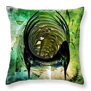 The Emerald Light  Throw Pillow