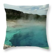 The Emerald Pool Colors Throw Pillow