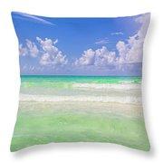 The Emerald Shore Of Destin, Fl Throw Pillow
