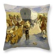 The Emigrants Throw Pillow