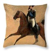 The Emperor Nikolai I Of Russia Throw Pillow