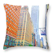 The Empire State Building 3 Throw Pillow