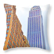 The Empire State Building 4 Throw Pillow