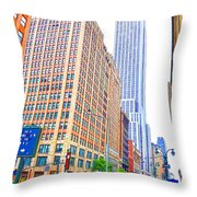 The Empire State Building 5 Throw Pillow
