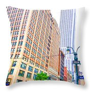 The Empire State Building 6 Throw Pillow