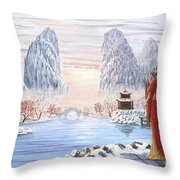 The Empress And The Unicorn Throw Pillow