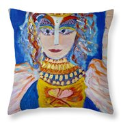 The Empressa  Of Hearts Angel Of Grace Beauty And Devotion Throw Pillow