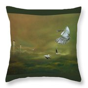 The Empty Nest Throw Pillow