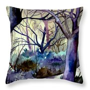 The Enchanted Path Throw Pillow