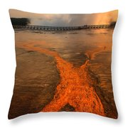 The Enchantment Of Grand Prismatic Spring Throw Pillow