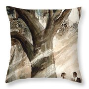 The Encounter Throw Pillow