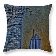 The Encroachment Upon Art Throw Pillow
