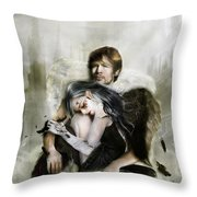 The End Is Nigh Throw Pillow by Mary Hood