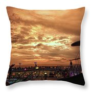 The End Of A Beautiful Day Throw Pillow