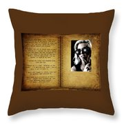 The End Of A Book Throw Pillow