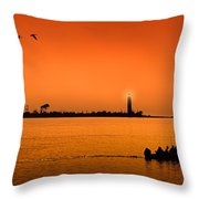 The End Of A Wonderful Day. Throw Pillow
