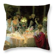 The End Of Dinner Throw Pillow