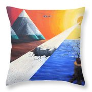 The End Of Humanity Throw Pillow