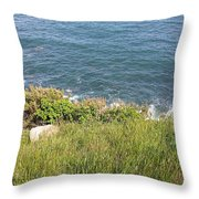 The End Of Long Island Throw Pillow