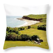 The End Of Long Island South Throw Pillow