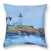 The End Of Summer- Cape Neddick Maine Throw Pillow