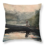 The End Of The Day Adirondacks Throw Pillow