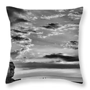 The End Of The Day, Old Hunstanton  Throw Pillow