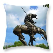 The End Of The Trail Throw Pillow