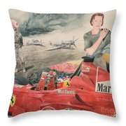 The Enigma Of Erich Hartmann Throw Pillow